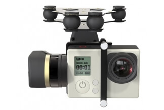 Gimbal Brushless Mini 2D (2 Ejes) para GoPro 4/3+/3