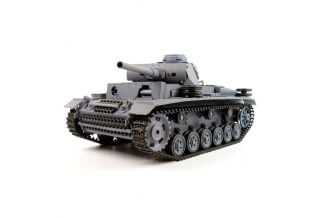 Tanque RC 1/16 Panzer III 2.4Ghz (Airsoft + Sonido +  Humo)